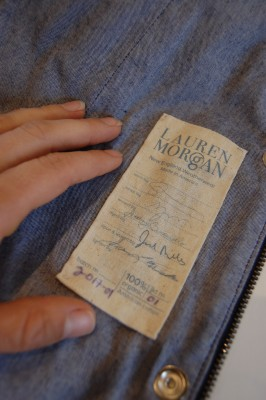 Chain of Custody Label with Hand Written Notes - Fashion Designer Lauren Morgan Inspired By Martha's Vineyard & New England