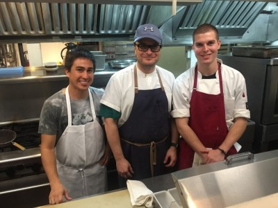 20 By Nine Chef Gustavo DeAguiar (middle) and his team Oak Bluffs Bar & Restaurant