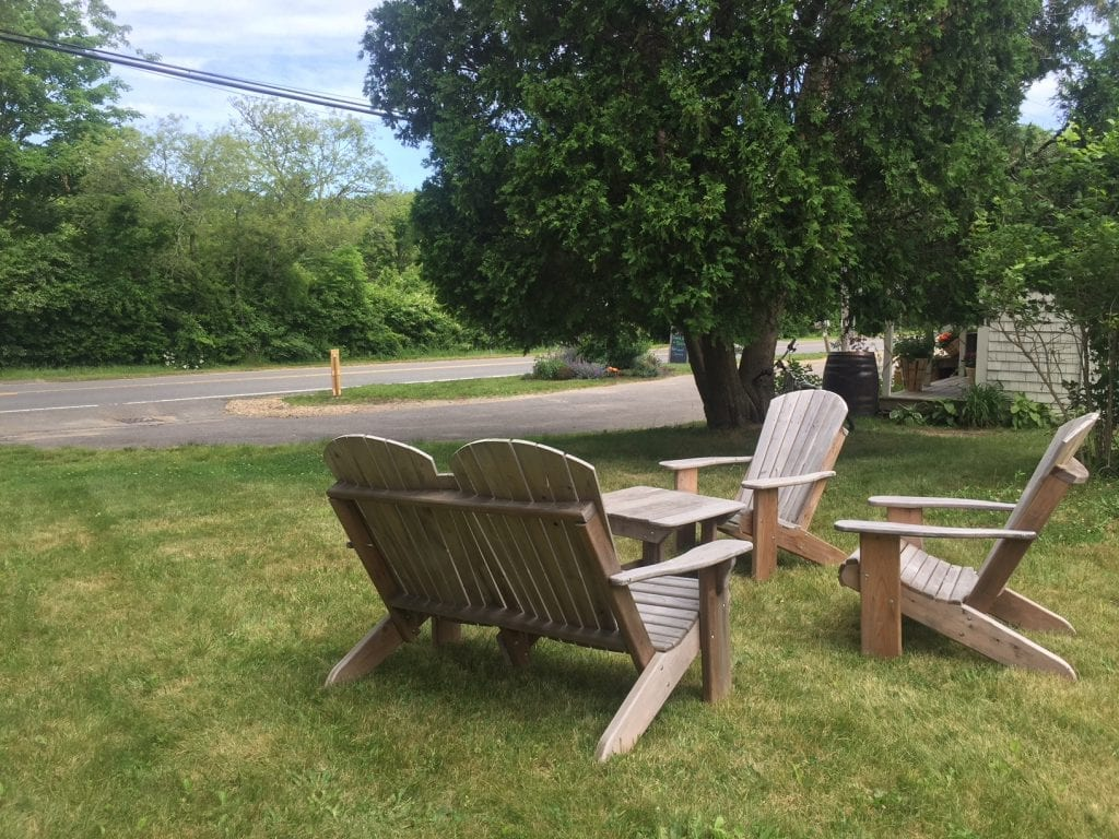 New Outdoor Seating At North Tisbury Farm Martha's Vineyard