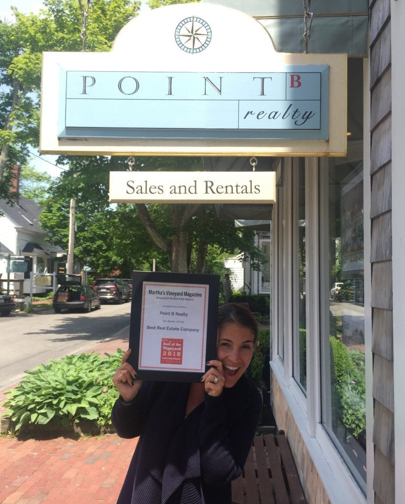 Best Of The Vineyard Awards Martha's Vineyard Magazine Names Point B Realty Best Real Estate Company on Martha's Vineyard Fifth Year In A Row