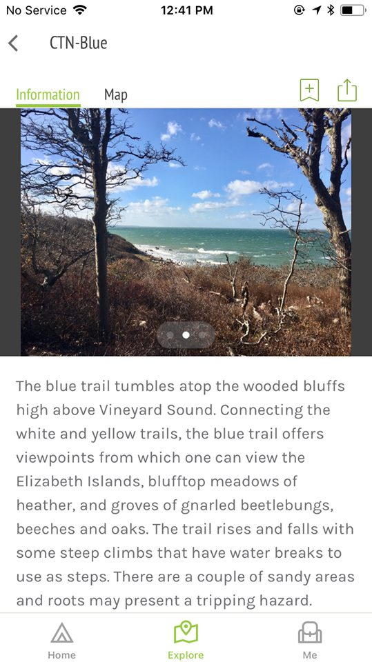Trails MV App Has Real Time Trail Updates To Popular Hikes On Martha's Vineyard