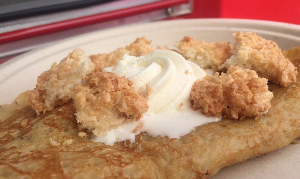 Martha's Vineyard Crêpes Crushed Coconut Meringue & Cream sweet Crêpe The Miller's Wife Food Truck