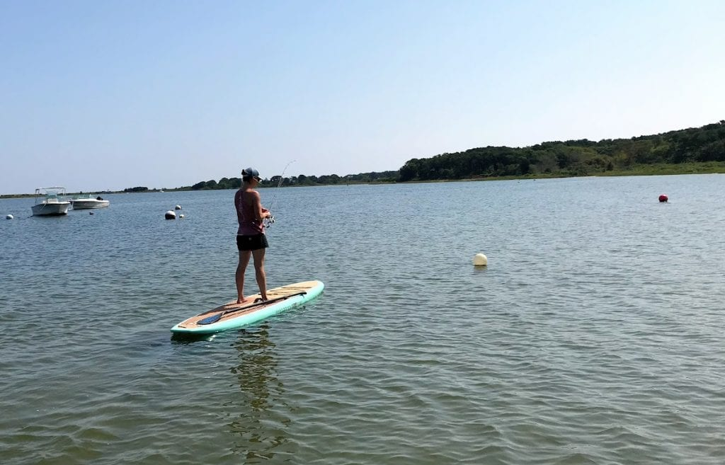 Paddle Board Fishing LUtility Martha's Vineyard