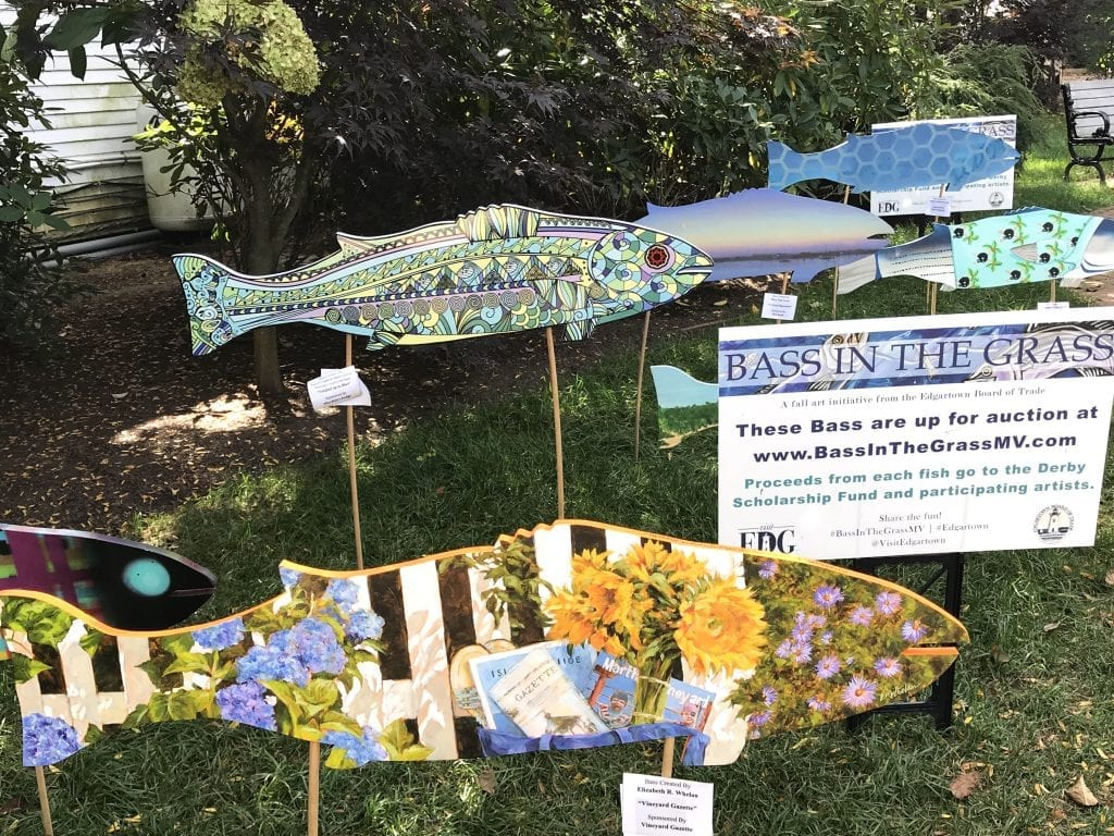 Martha's Vineyard Fishing Derby Bass In The Grass Art Auction Fundraiser