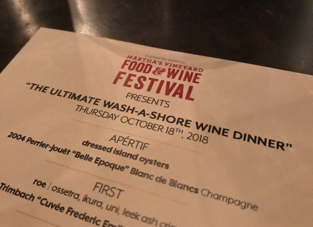 Wash A Shore Wine Dinner Wine Festival Martha's Vineyard