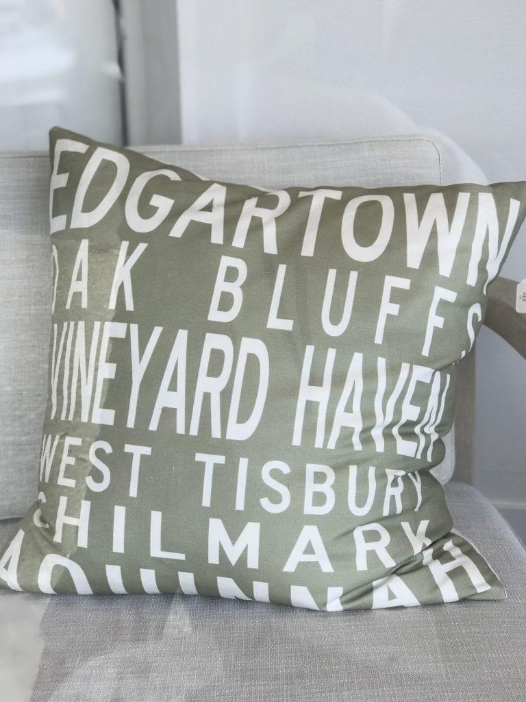 Martha's Vineyard Zip Code Pillows Bespoke Abode Vineyard Haven