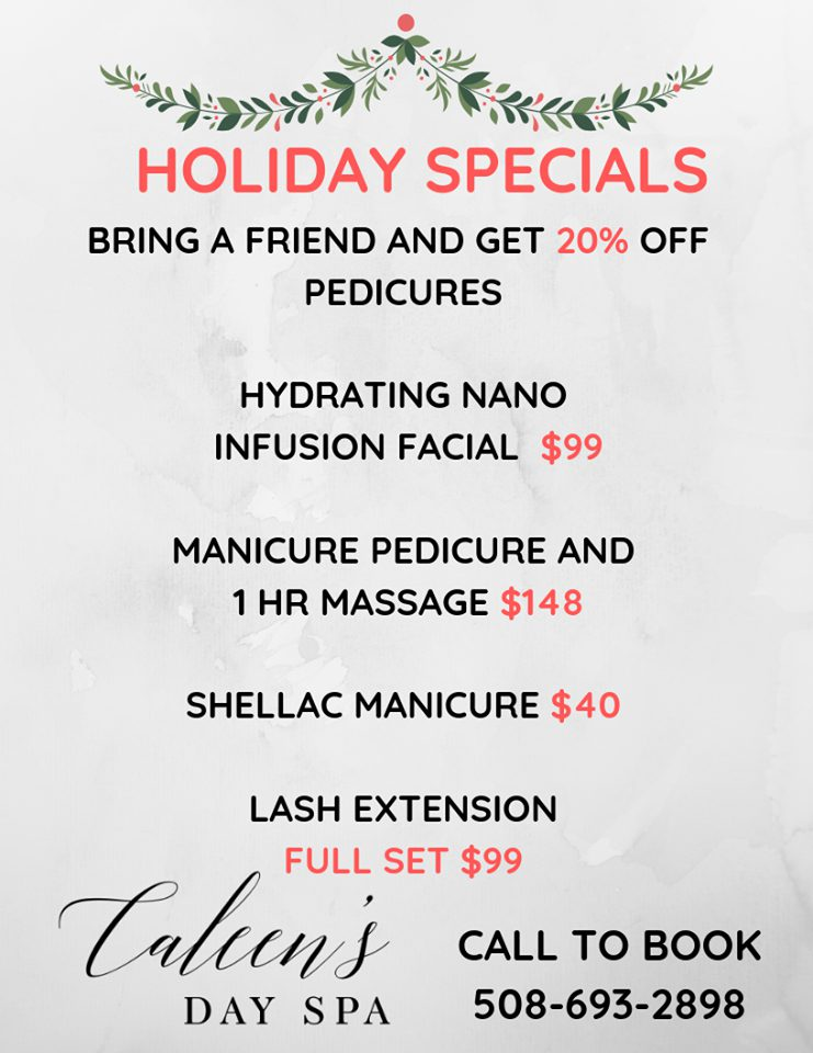 Caleen Day Spa Holiday Special Vineyard Haven