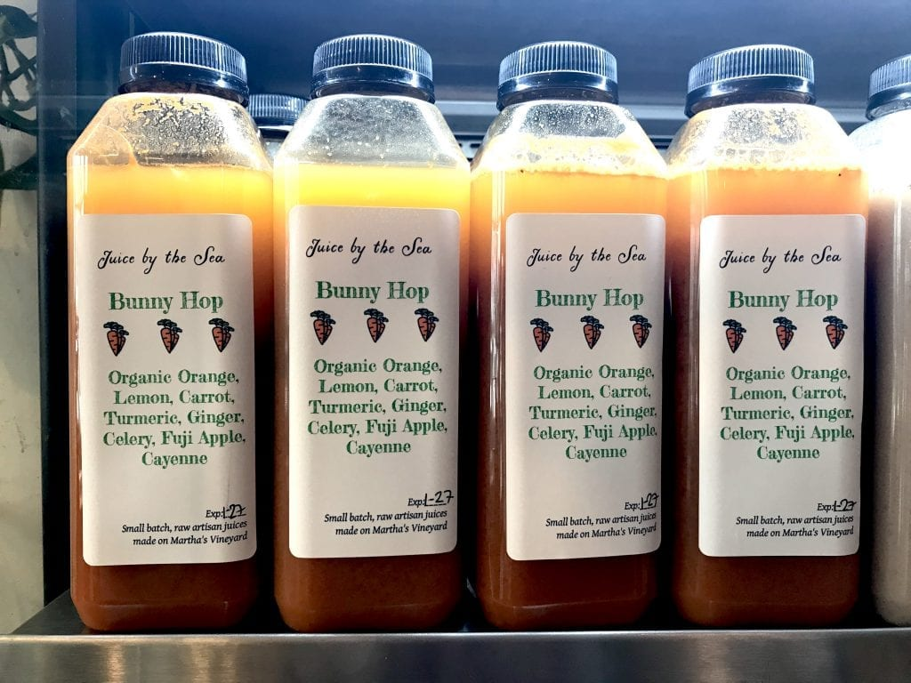 Juice By The Sea On Martha's Vineyard - Bunny Hop Juice At Not Your Sugar Mamas