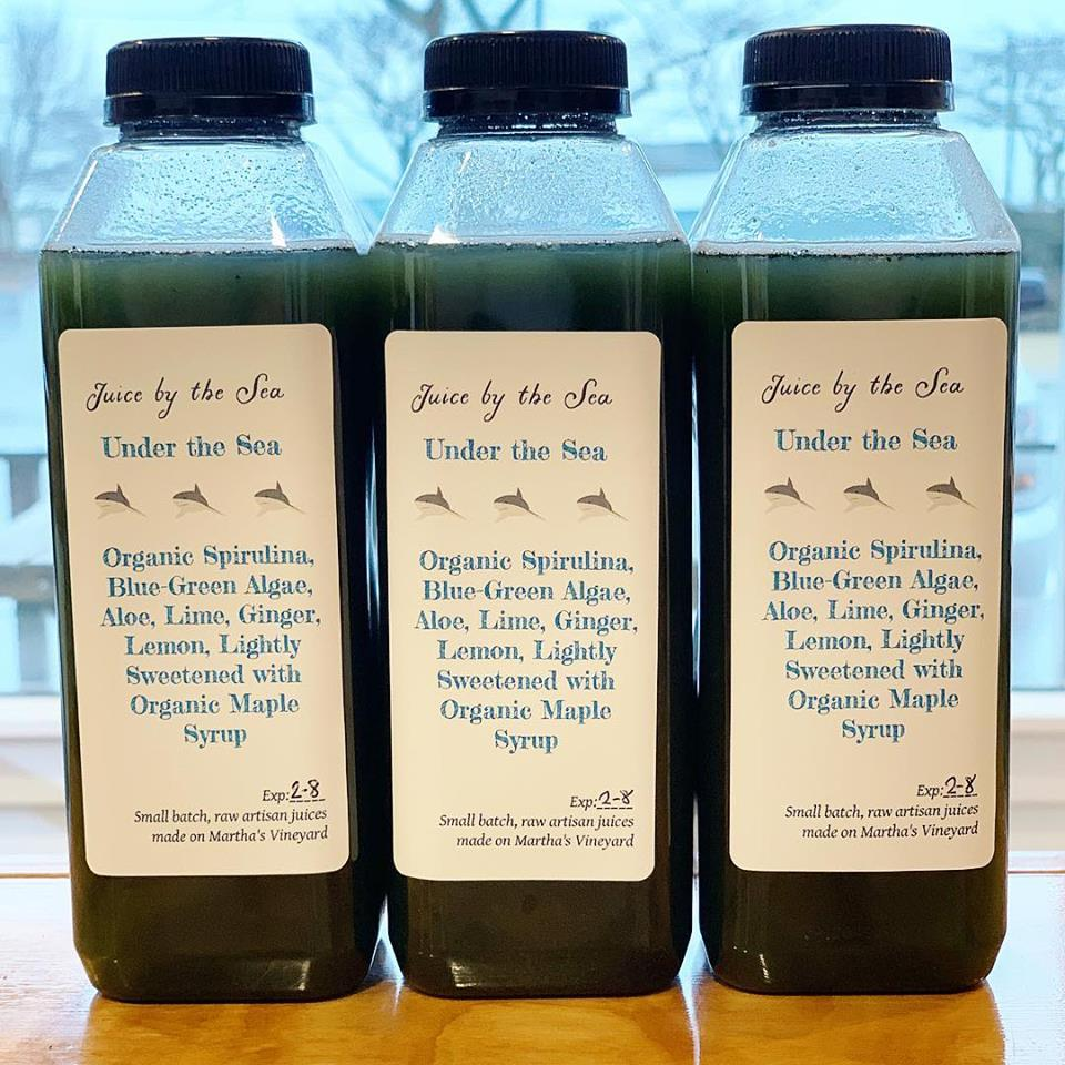 Juice By The Sea On Martha's Vineyard Plant-Based Juices From Not Your Sugar Mamas Vegan Food Vineyard Haven
