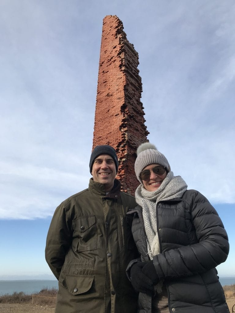 Iconic Chimney At The Brickyard Winter Walk With the Trustees Martha's Vineyard