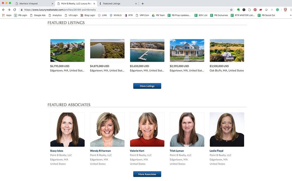 Point B Realty On Who's Who Of Luxury Real Estate Website