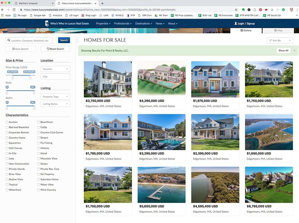 Point B Realty Sales Listing Featured Search Placement On Regents.Com And Luxury Real Estate.Com Websites