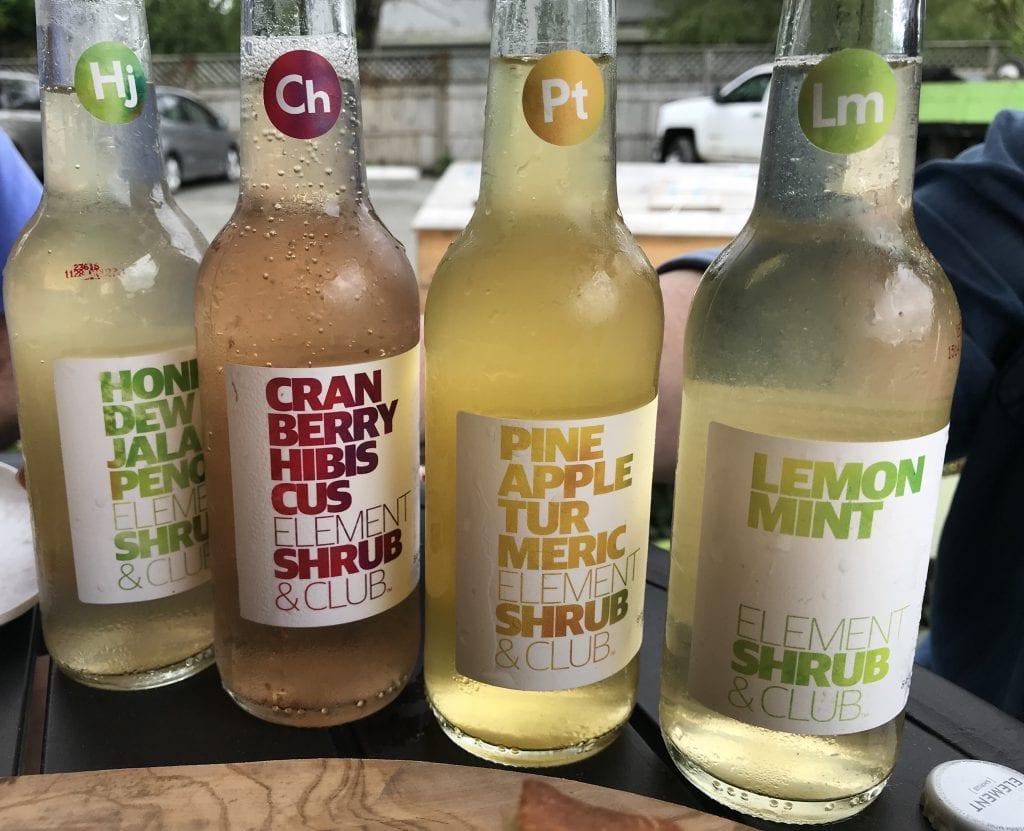 Element Shrub & Club Drinks At Katama General Store Martha's Vineyard