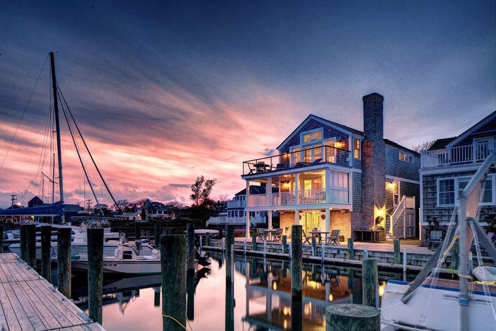 Spectacular Waterfront Compound On Historic Edgartown Harbor Sunset View - 2 and 4 Morse Street Edgartown MA 02539 Martha's Vineyard Luxury Homes For Sale