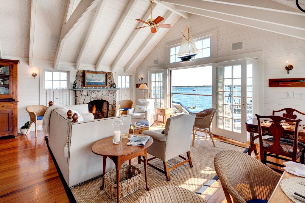 Martha's Vineyard Real Estate For Sale Waterfront Compound On Historic Edgartown Harbor 2 & 4 Morse Street Edgartown MA 02539 Offered By Point B Realty - Please Inquire