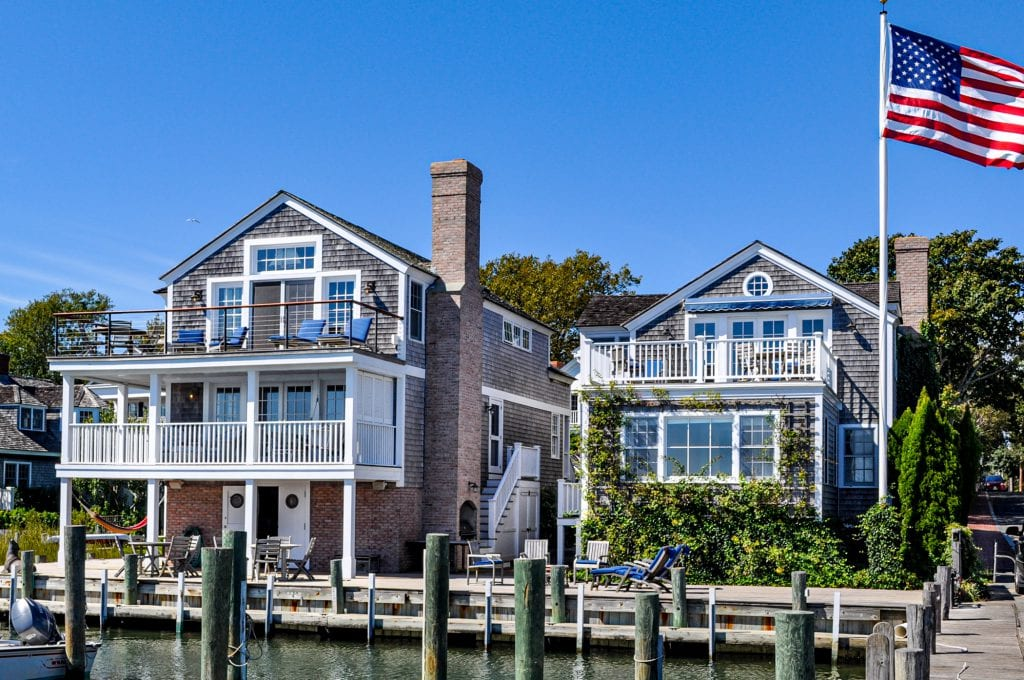 Just Listed: Spectacular Waterfront Compound On Historic Edgartown Harbor 2 and 4 Morse Street Edgartown MA 02539 Martha's Vineyard Point B Realty Special Offering - Please Inquire