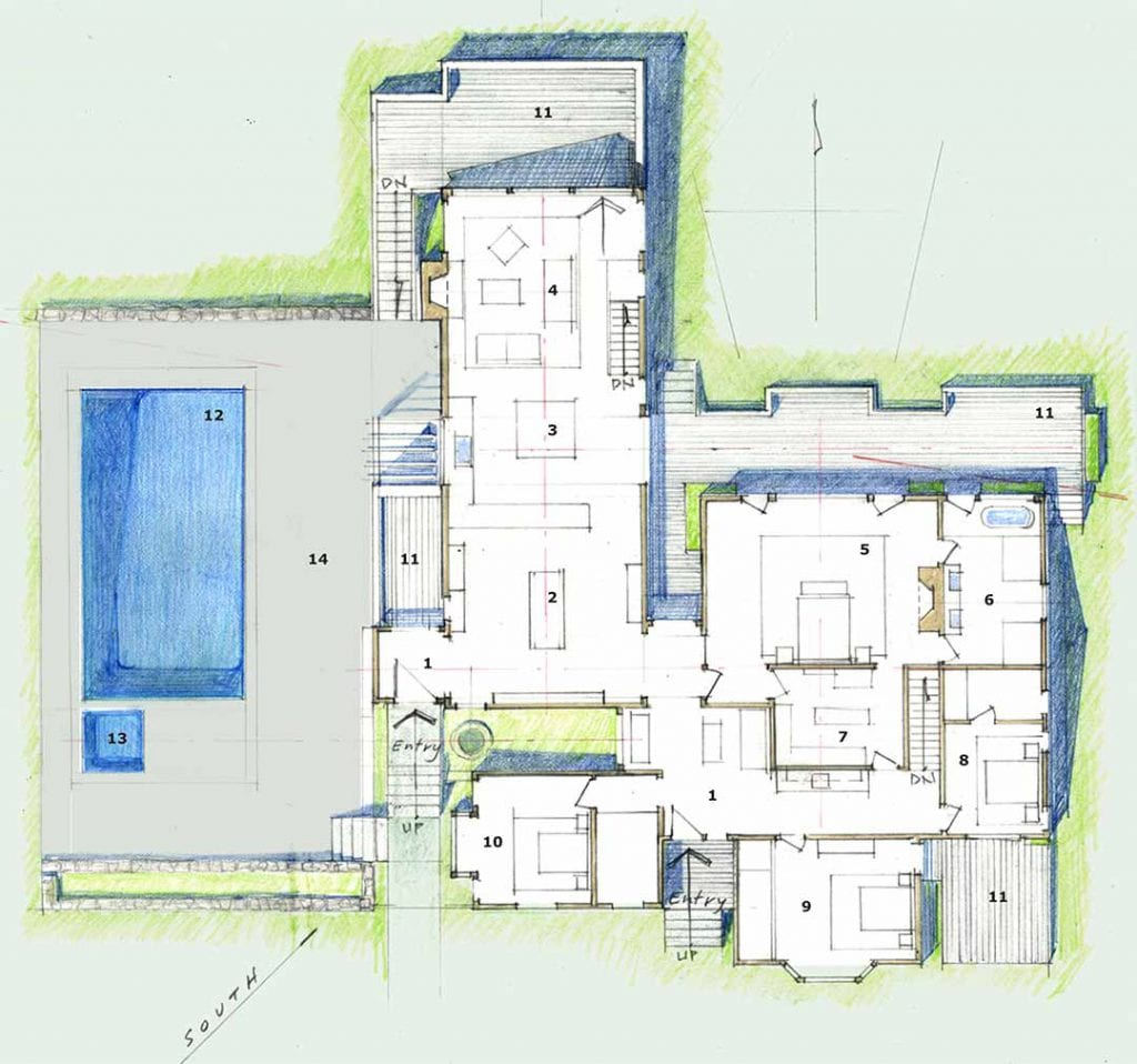 Renovation Design Concept By Breese Architects For 82 Turkeyland Cove Road Edgartown MA 02539 Martha's Vineyard