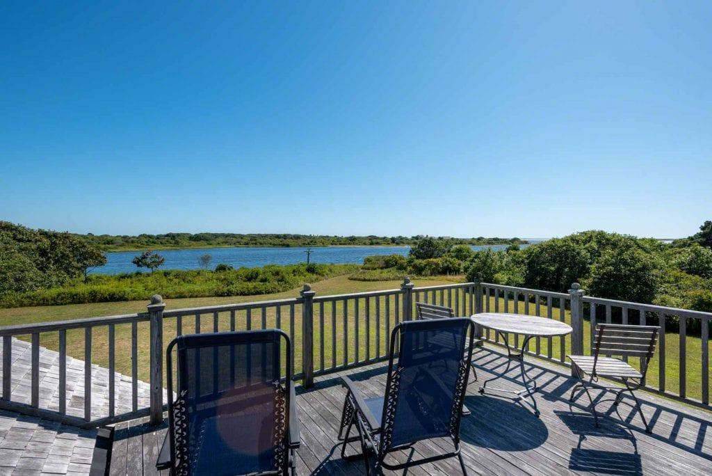 View Across Edgartown Great Pond, Barrier Beach And Atlantic Ocean From 55 Kins Point Way Edgartown MA 02539 Listing Details From Point B Realty
