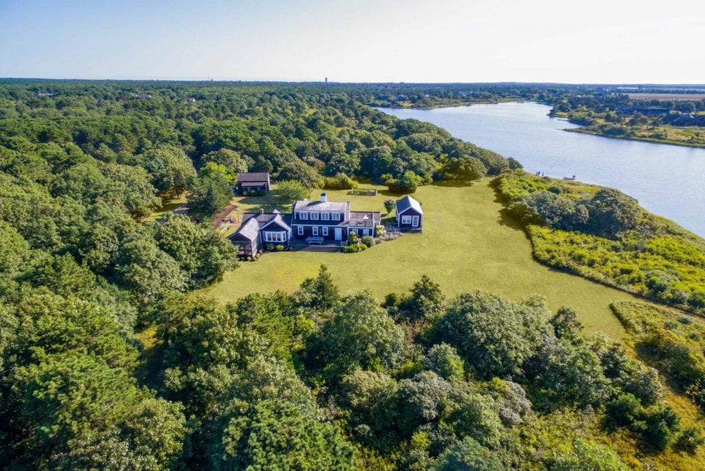 Edgartown Great Pond Waterfront Home 55 Kings Point Way Edgartown MA 02539 Point B Realty Exclusive Listing