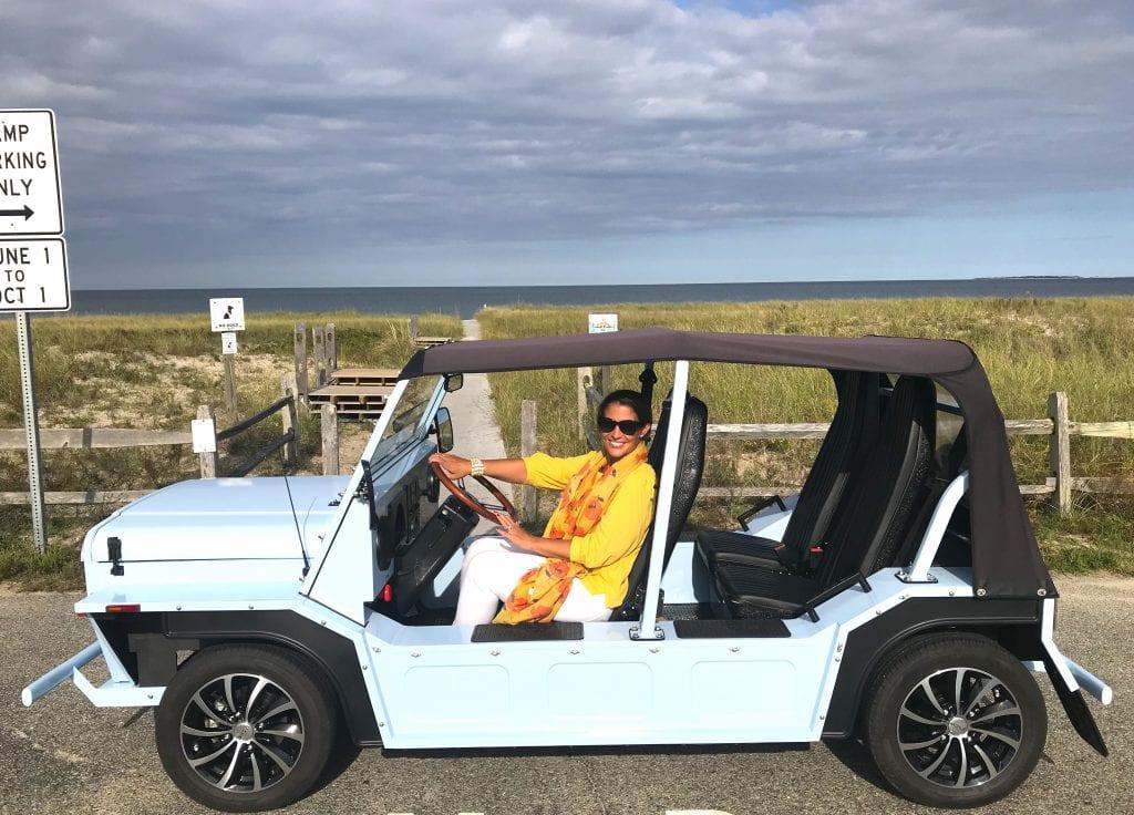 Island Driving In MOKE Electric Vehicle On Martha's Vineyard