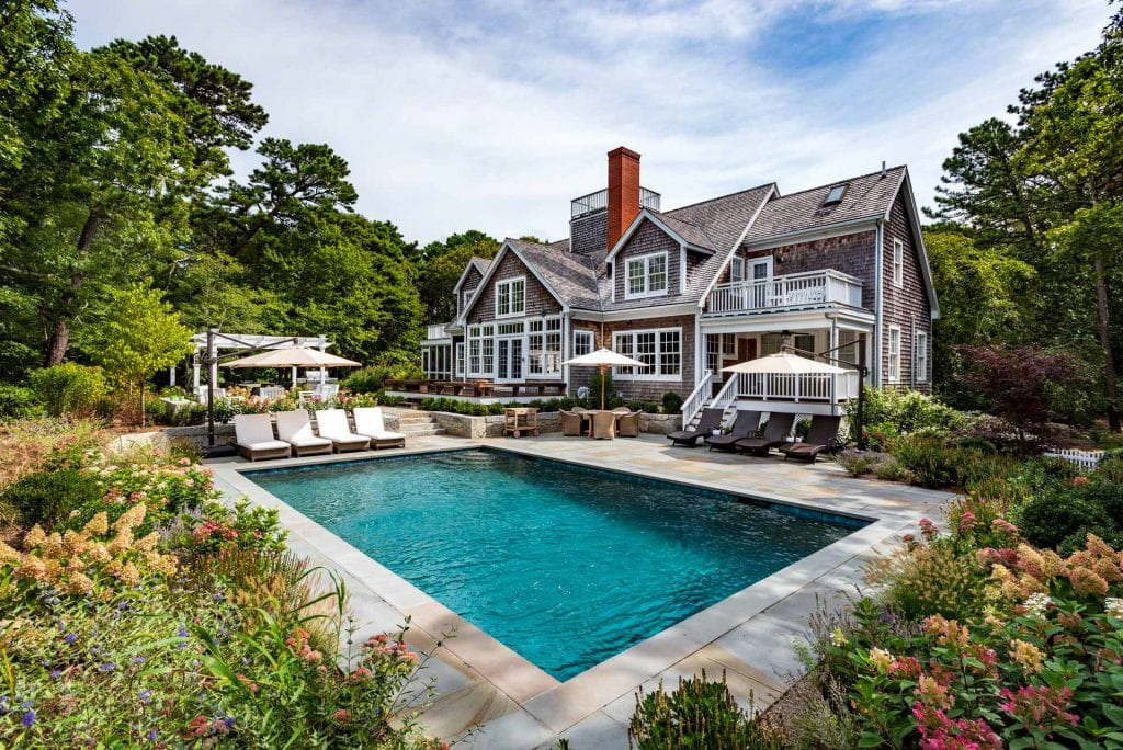 Martha's Vineyard Vacation Rentals Newly Listed For Summer 2020 - Mink Meadows Luxury Getaway With Pool Point B Realty Exclusive Rental Listing