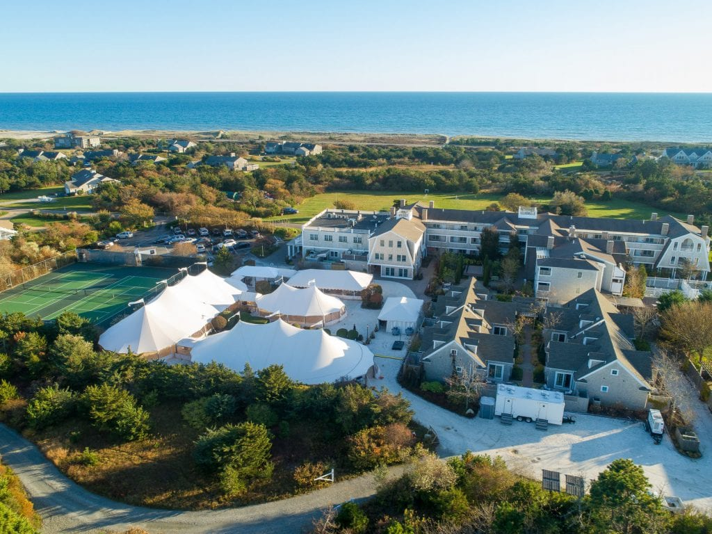 Martha's Vineyard Food & Wine Festival Aerial View Of Grand TAsting Winnetu Resort - David Welch Photography