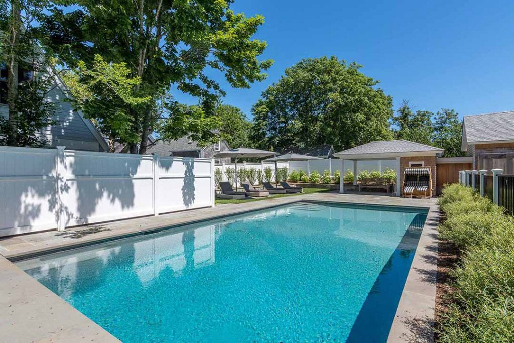 Edgartown Luxury Vacation Rental Features Heated Gunite Pool With Lounge Area And Pool Cabana Martha's Vineyard Vacation Rentals Summer 2020 Point B Exclusive Vacation Rental EDG BVEL-96