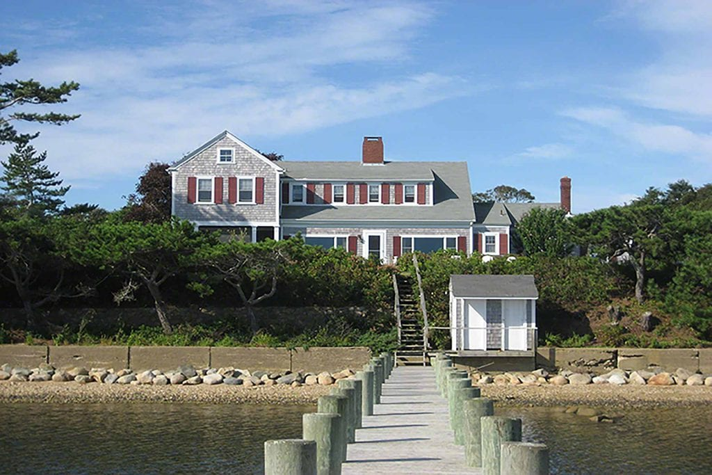 Waterfront Home On Katama Bay With Dock Martha's Vineyard Vacation Rentals For Summer 2020 Point B Realty Rental Listing in Edgartown KAT DCAM-17