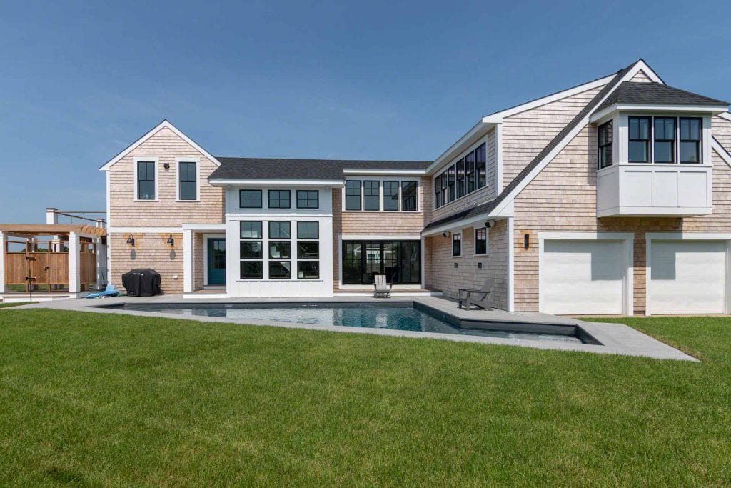 Martha's Vineyard Vacation Rentals For Summer 2020 From Point B Realty Chic Coastal Retreat With Pool And Sunset Views In Katama Rental Code KAT EWES-14