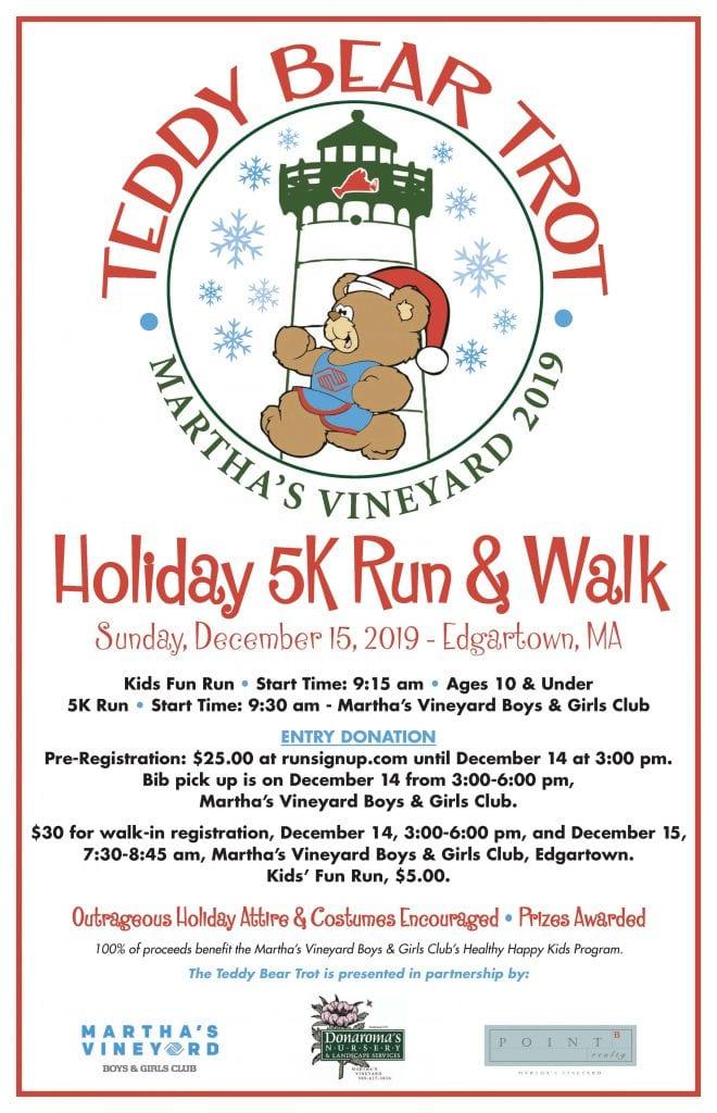 Martha's Vineyard Teddy Bear Suite Fundraiser  Teddy Bear Trot Holiday 5K Run & Walk