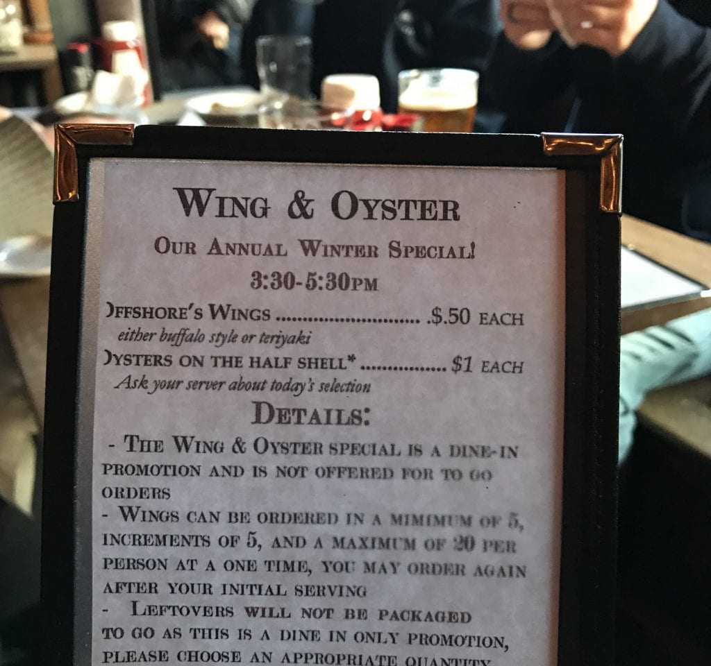 Frugal Foodie Alert Oyster Night On Martha's Vineyard Offshore Ale Company Oak Bluffs Dining Out