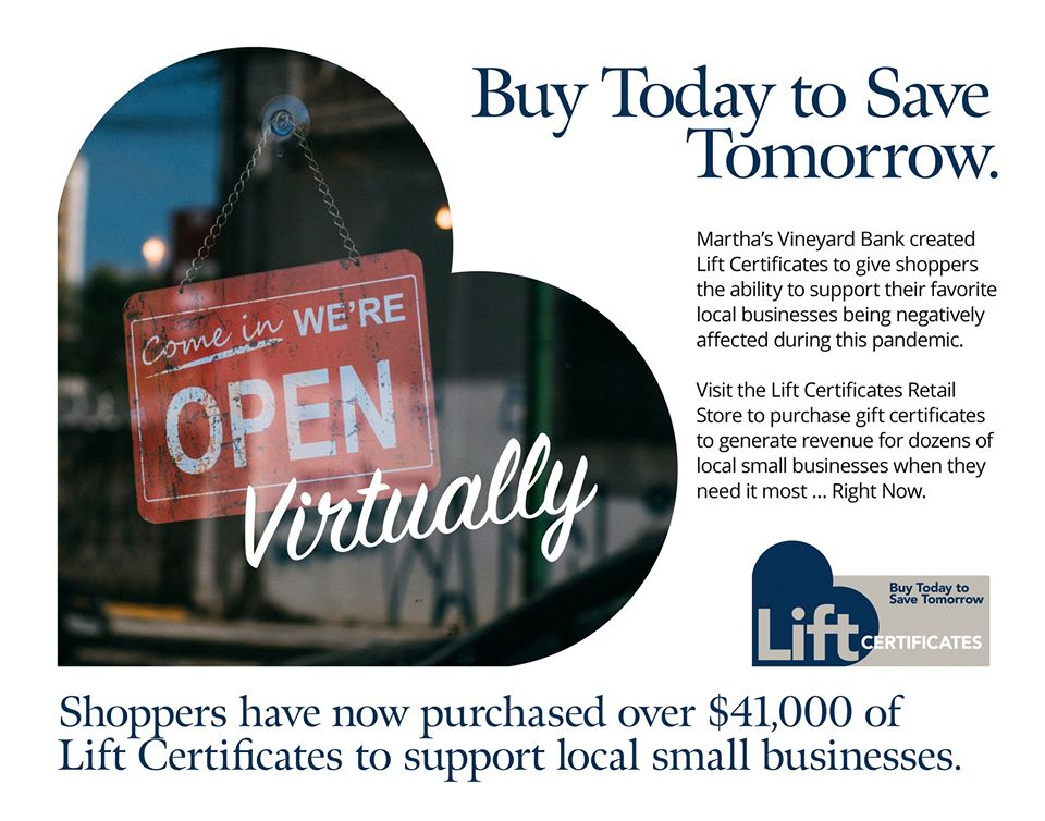 WE LOVE MV: Helping Martha's Vineyard Businesses with LIFT Gift Certificates Support Local Businesses Today!