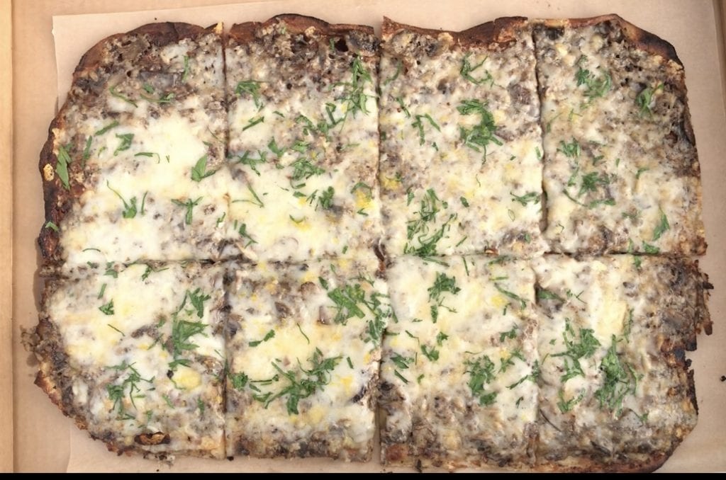 We Love MV: Celebrating A Special Occasion With Takeout Food - Truffled Mushroom Flatbread From Bettini Restaurant Martha's Vineyard