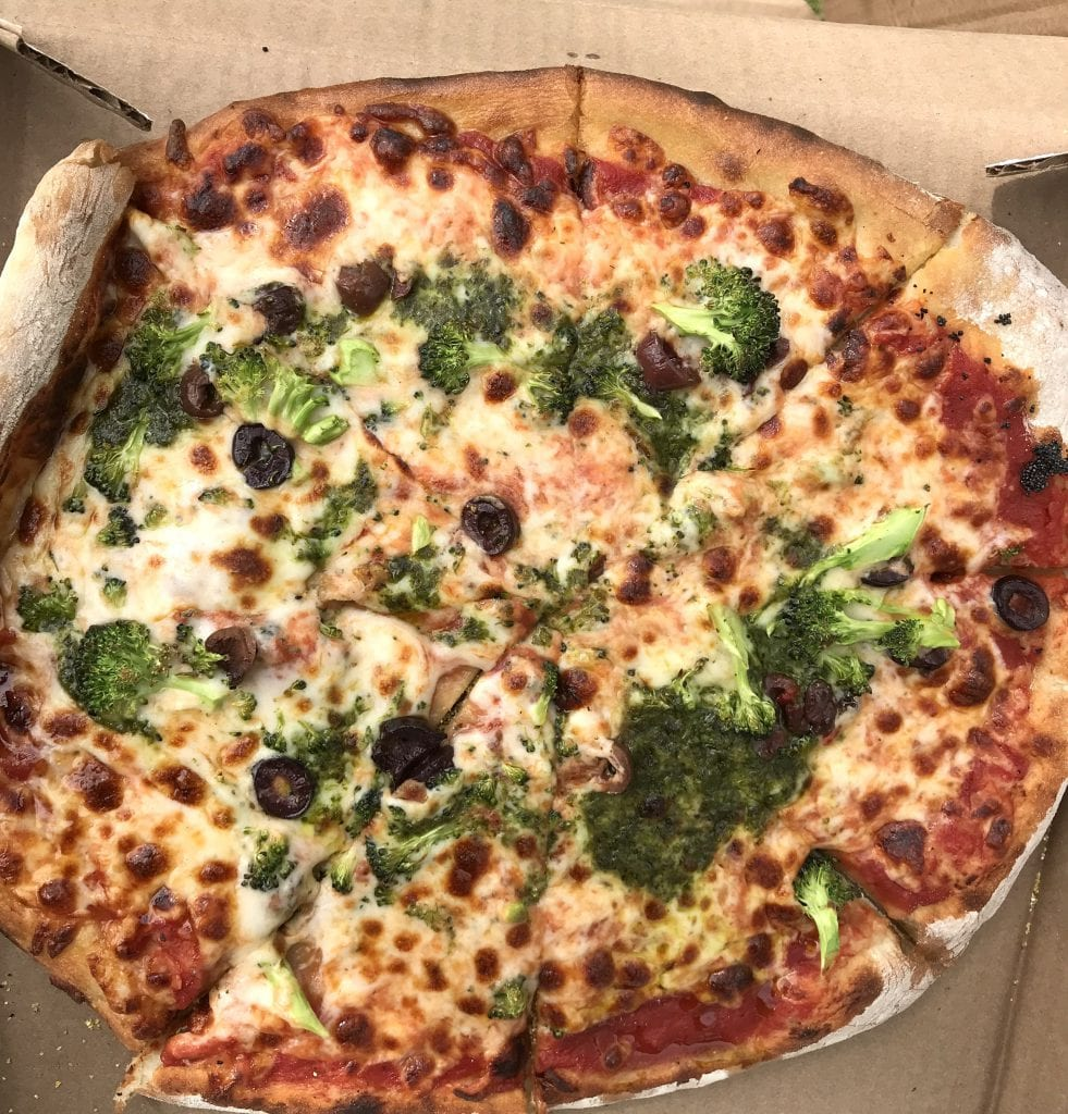 Everything Pizza At Orange Peel Bakery Takeout Food Aquinnah On Martha's Vineyard