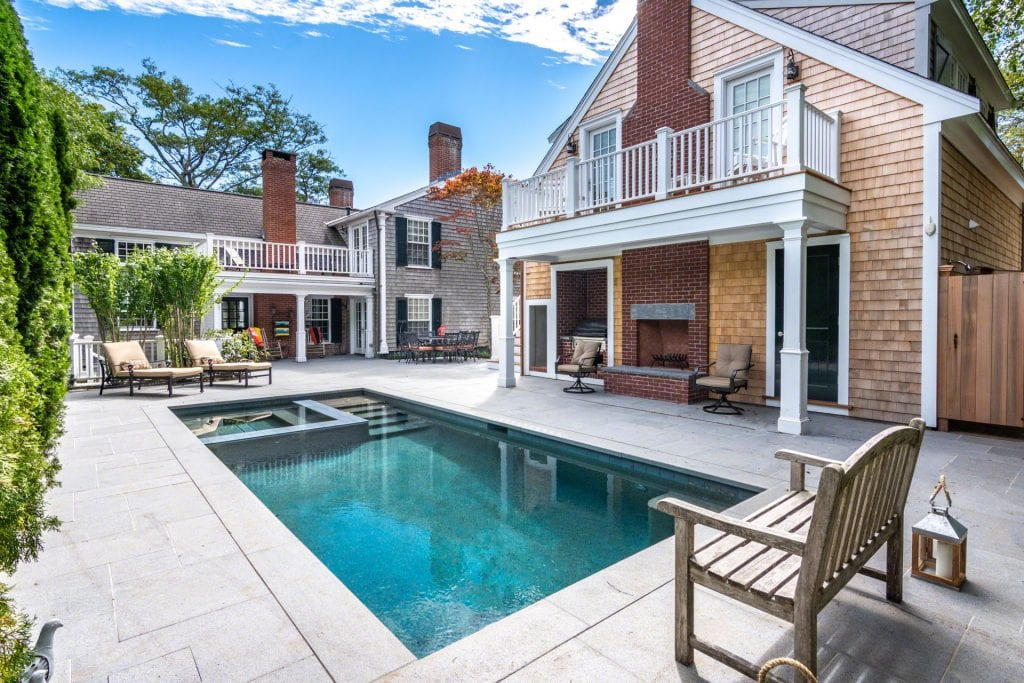Martha's Vineyard Vacation Rentals Luxury Edgartown Compound with pool Point B Realty Rental Listing