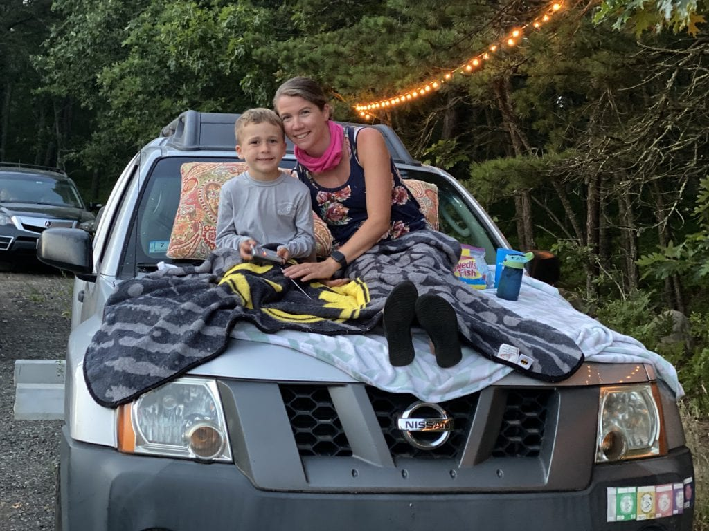 Mother + Son Moment At The vineyard's Summer Drive-In We Love MV Drive-In Movies