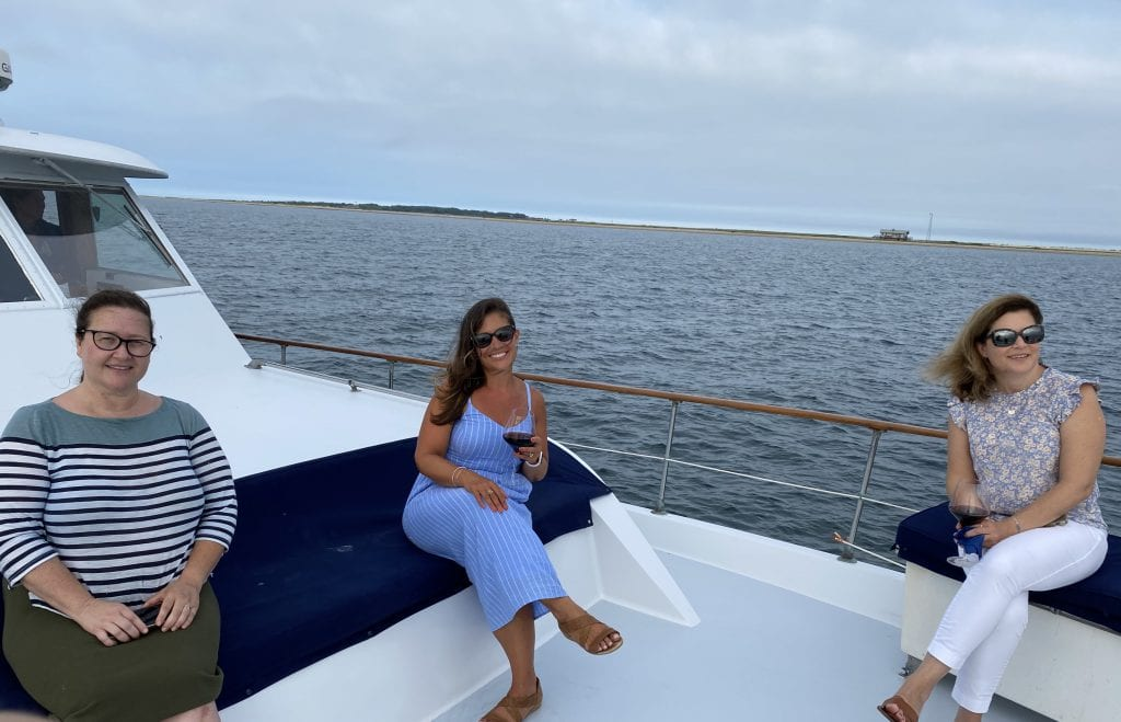 Enjoying Front Row Seat On Edgartown Harbor Aboard The Alewife Yacht Martha's Vineyard