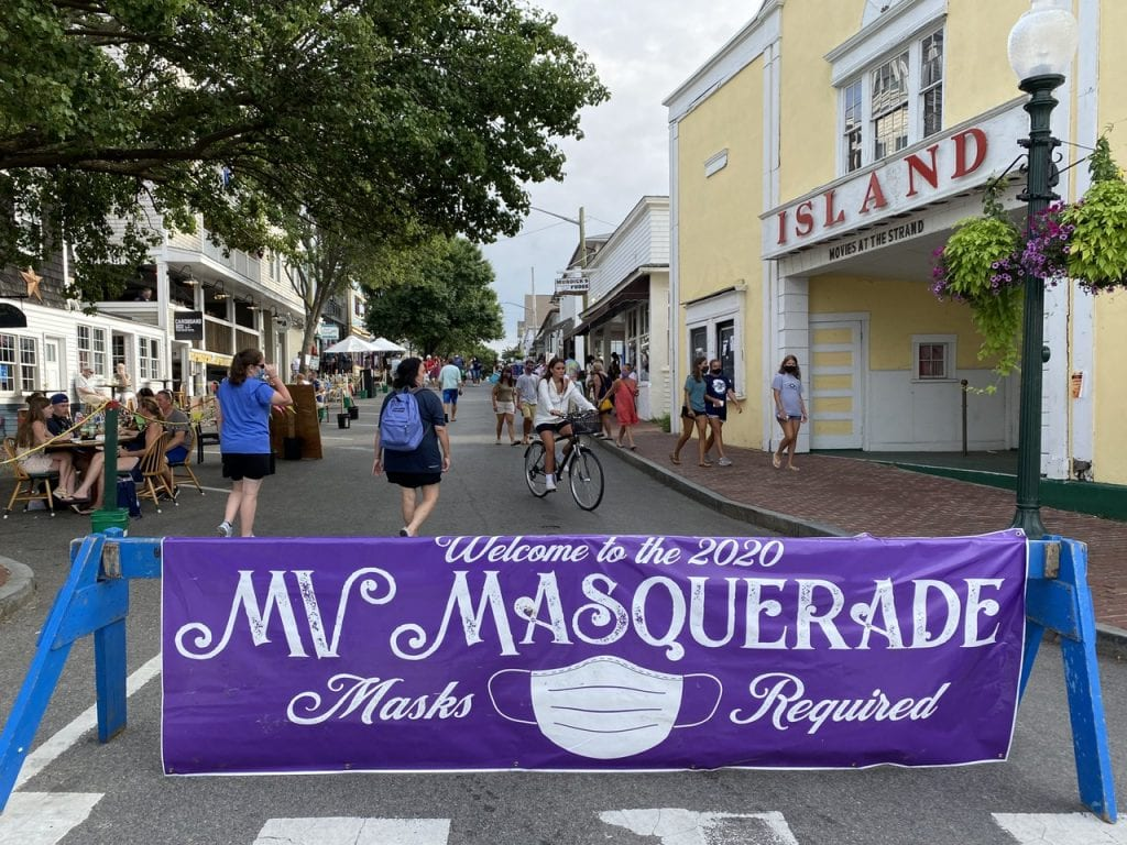 WE LOVE MV: MV Masquerade Outdoor Dining And Shopping In Oak Bluffs Martha's Vineyard Summer 2020