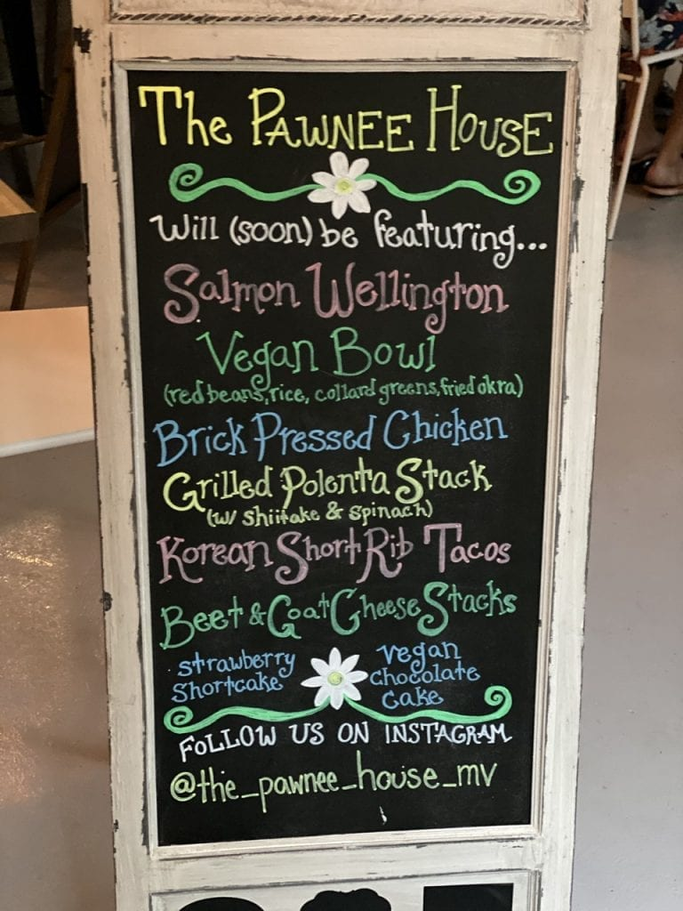 WE LOVE MV: The Pawnee House Restaurant Debut In Oak Bluffs Vegan And Other Interesting Dining Options