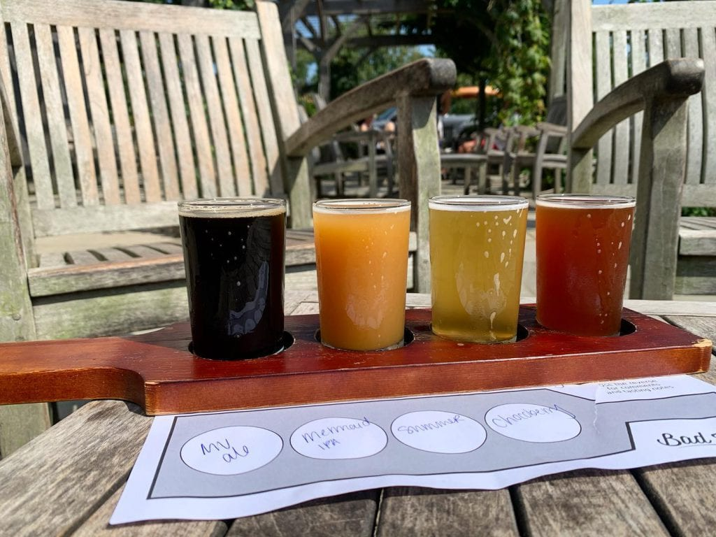 Bad Martha's Farmer's Brewery Edgartown Marthas Vineyard Summer 2020 Craft Beer Artisan Pizza  Outdoor Dining