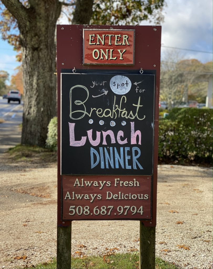 A Sign Of Good Things To Come At Little House Cafe Vineyard Haven Restaurant on Martha's Vineyard We Love MV
