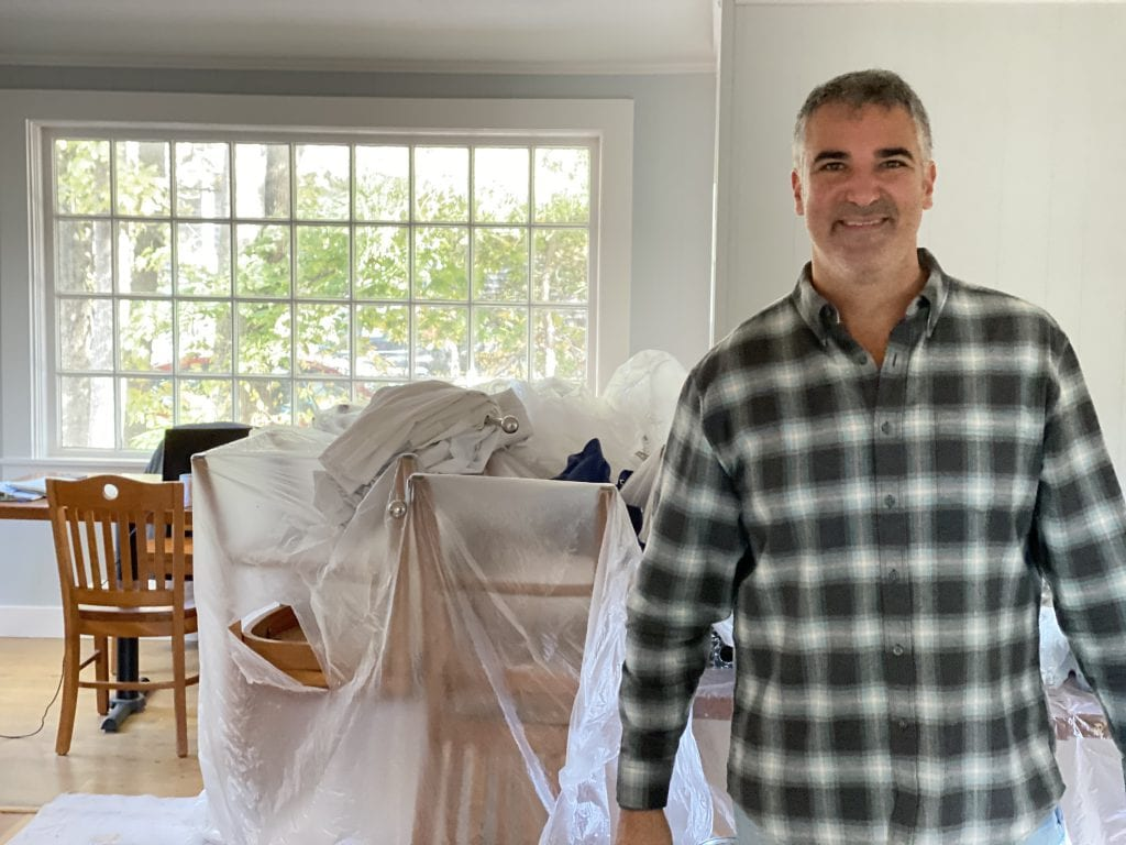 New Owner Brook Katzen in the Little House Dining Room We Love MV New Dining Out Take Out Options On Martha's Vineyard