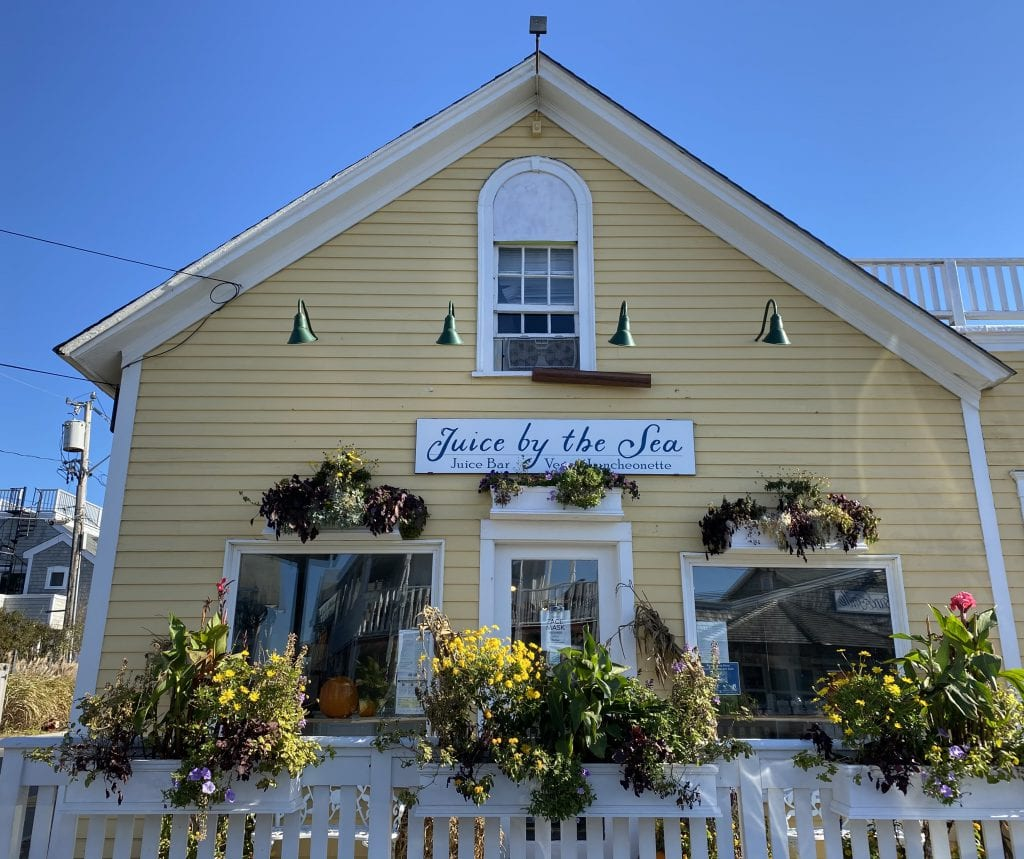 Juice By the Sea Vegan Luncheonette Coffee Shop Oak Bluffs Martha's Vineyard