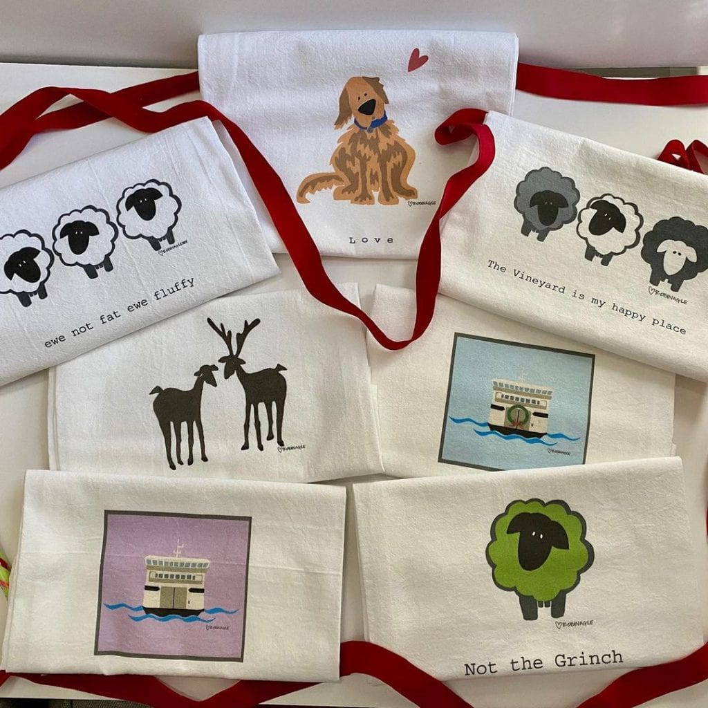 SHOP LOCAL MV This Holiday Season - Cut Paper Island  Tea Towels