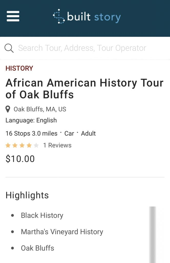 Black History MV: African American History Tour Of Oak Bluffs Built Story App Tour Written By Island Author Tom Dresser