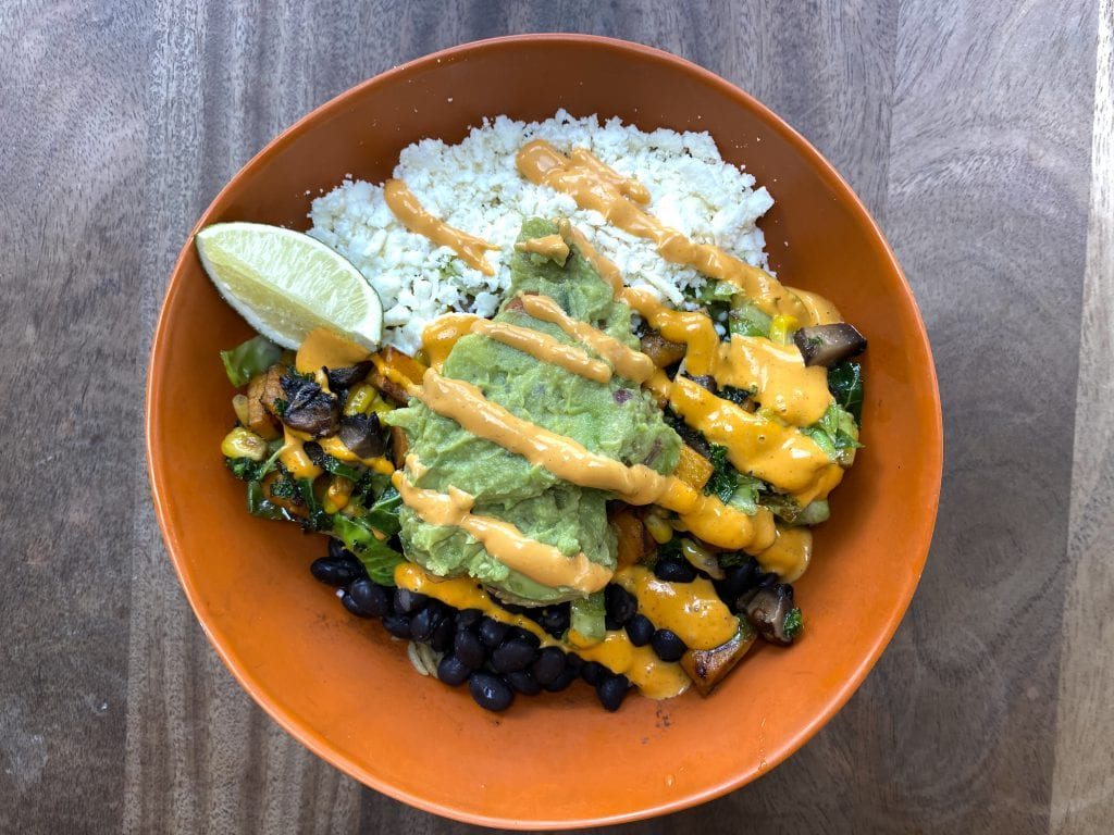 Vegetarian Rice Bowl Dilly's Taqueria Mexican Food Oak Bluffs Martha's Vineyard Falmouth The Ritz