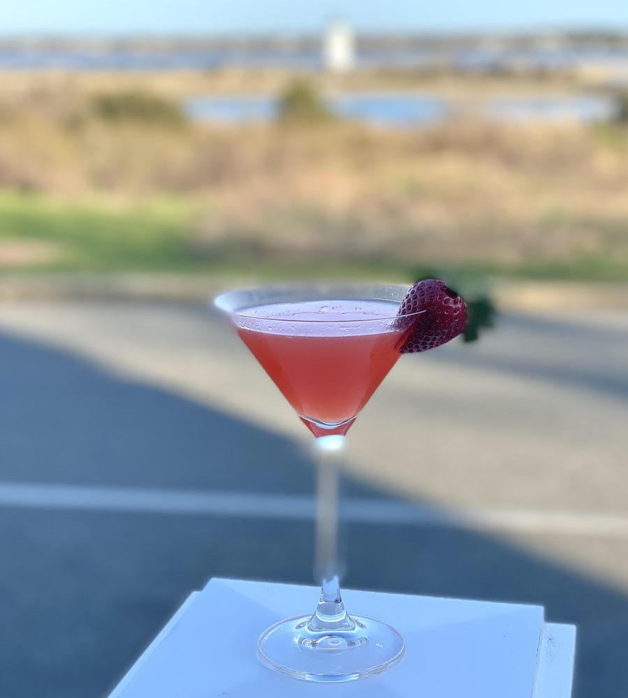 Pink Lady Cocktail At The Harbor View Hotel Mother's Day Brunch Pink and Green Weekend Edgartown Martha's Vineyard