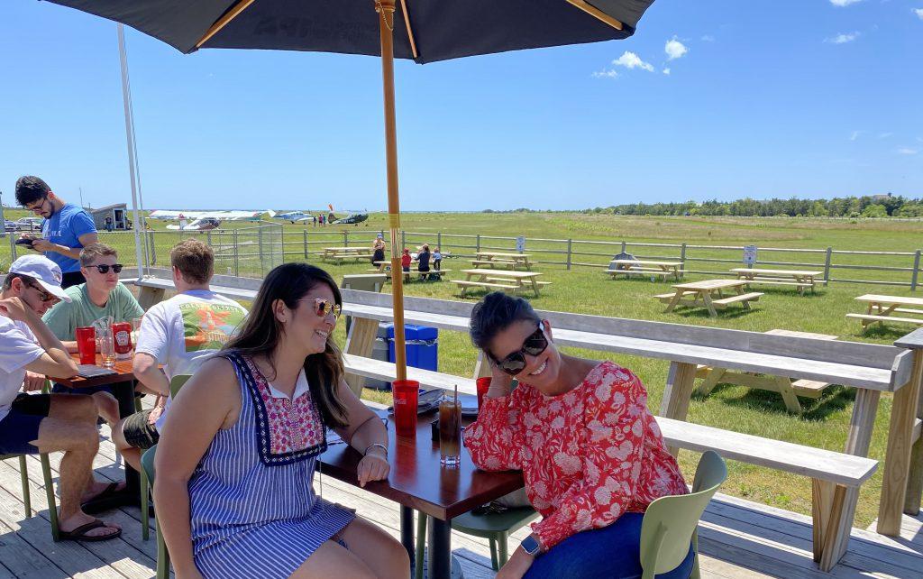Katama Kitchen Outdoor Dining  Visit Edgartown Martha's Vineyard  New for Summer 2021 Point B Realty
