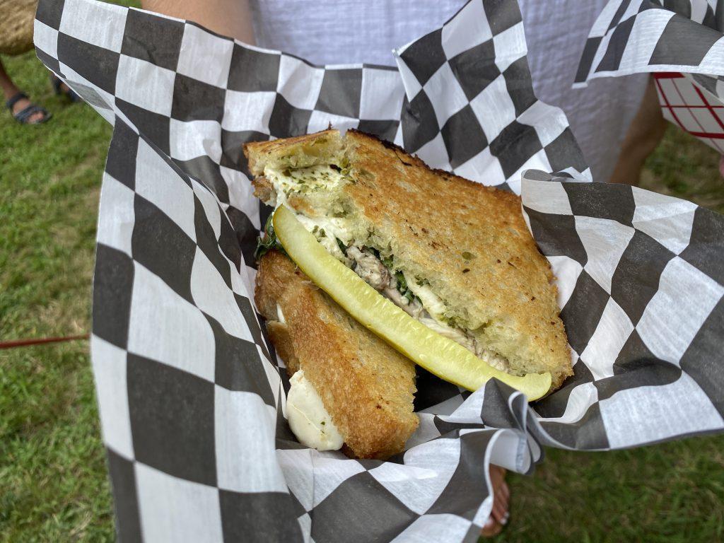 Goldie's Rotisserie Chicken Sandwich  Goldie's Food Truck Martha's Vineyard On Point MV Blog Point B Realty