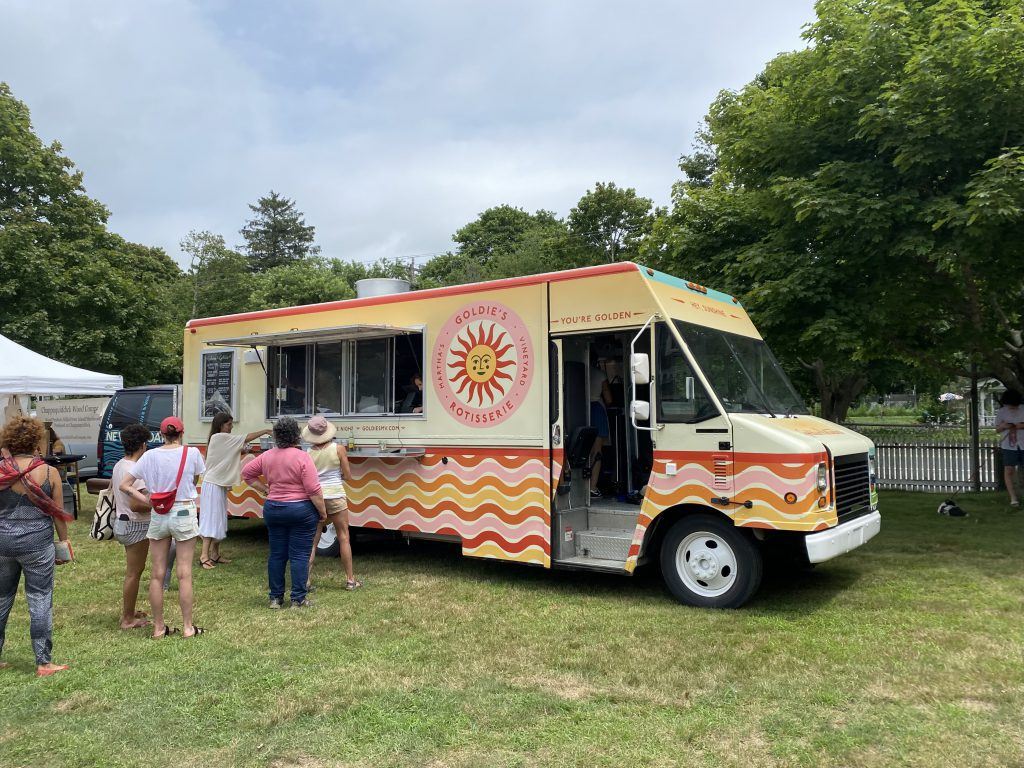 Goldie's Rotisserie Food Truck Enters The Martha's Vineyard Food Scene  Martha's Vineyard Vineyard Artisans Festival  Summer 2021 Point B Realty